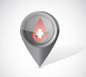 Donate blood pointer illustration Stock Photography