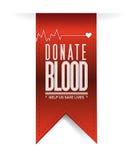 Donate blood red heart banner illustration Stock Image
