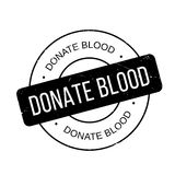 Donate Blood rubber stamp Stock Photography