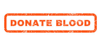 Donate Blood Rubber Stamp Stock Images