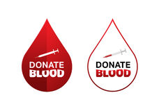 Donate blood vector Royalty Free Stock Images