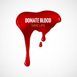 Donate blood vector poster Royalty Free Stock Images