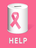 Donate for breast cancer research and prevention Royalty Free Stock Images