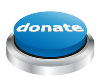 Donate button. Illustration of blue donate button Stock Images