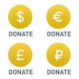 Donate button vector icon Royalty Free Stock Photo