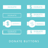 Donate Buttons Stock Image