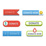 Donate buttons vector set. Stock Photography