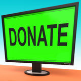 Donate Computer Shows Charity Donating And Fundraising Stock Image