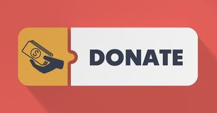 Donate Concept in Flat Design. Stock Images