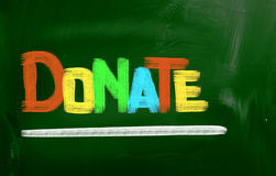 Donate Concept. Concept Handwritten With Chalk On A Blackboard Royalty Free Stock Image