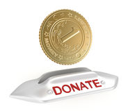 Donate concept icon Royalty Free Stock Images