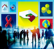 Donate Donation GIve Help Sharing Volunteer Aid Concept Royalty Free Stock Images