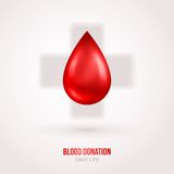 Donate drop blood sign with shadow Royalty Free Stock Photography