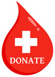 Donate first aid blood drop Stock Image