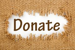 Donate Fundraising Event royalty free stock photography