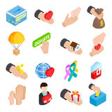 Donate Given Isometric 3d Icons Stock Images