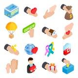 Donate givna isometriska symboler 3d royaltyfri illustrationer