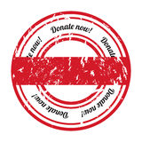 Donate grunge rubber stamp Royalty Free Stock Photo