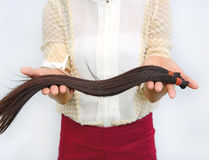 Donate hair to cancer patient Royalty Free Stock Photos