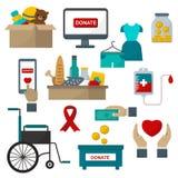Donate help symbols illustration stock illustration