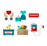 Donate help symbols vector illustration vector illustration