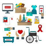 Donate help symbols vector illustration Royalty Free Stock Images