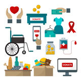 Donate help symbols vector illustration Stock Image