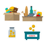 Donate help symbols vector illustration royalty free illustration
