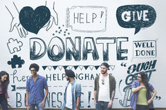 Donate Helping Hands Kindness Give Concept.  royalty free stock photo