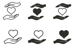 Donate icon set. Donate vector icons set. Black illustration on white background for graphic and web design royalty free illustration