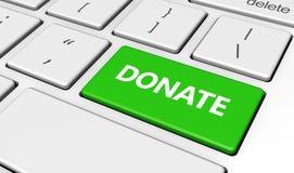 Donate Keyboard Button Stock Photo