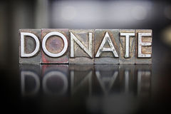 Donate Letterpress Royalty Free Stock Image
