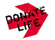 Donate Life rubber stamp Royalty Free Stock Photography