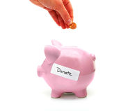 Donate money Royalty Free Stock Images