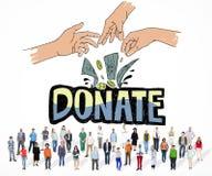 Donate Money Charity Generous Hands Concept Stock Photos