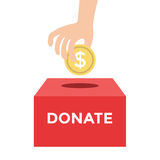 Donate Money To Charity Concept Royalty Free Stock Photos