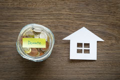 Donate money to homeless charities Stock Images