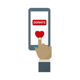 Donate phone monitor icon vector. Stock Photography