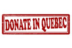 Donate in Quebec. Stamp with text donate in Quebec inside,  illustration Royalty Free Stock Photos