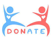 Donate symbol Stock Photo