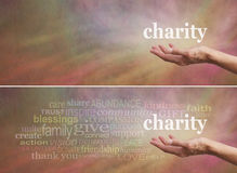 Free Donate To Charity Campaign Banner Royalty Free Stock Image - 56043656