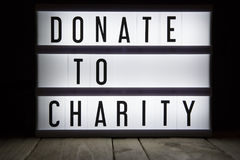 Donate to charity Royalty Free Stock Image