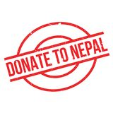 Donate To Nepal rubber stamp Royalty Free Stock Photos