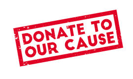 Donate To Our Cause rubber stamp Stock Photos