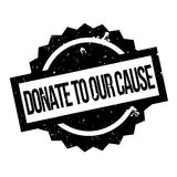 Donate To Our Cause rubber stamp Stock Image
