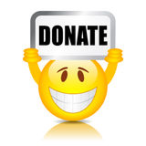 Donate vector sign Stock Images