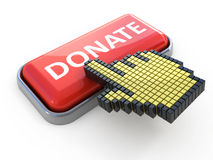 Donate web button Royalty Free Stock Images