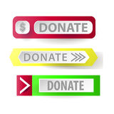 Donate. Web button for charity vector Royalty Free Stock Photo