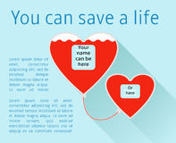 Donate your blood. Template poster for donor day blood donation  saving life Royalty Free Stock Photo