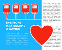 Donate your blood. Template poster for donor day blood donation  saving life Stock Photography